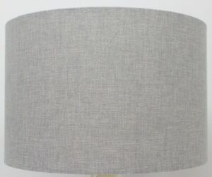 Image Is Loading Pebble Grey Linen Mix Cylinder Drum Lampshade Ceiling