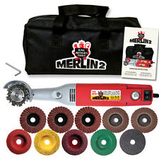 NEW ITEM  MERLIN 2 PREMIUM  WOOD CARVING SET WORLDS SMALLEST CHAIN SAW #10025