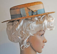 ANTIQUE DRESS STRAW HAT 1912-20's LADIES DAMAGED LOT OF 2 MUSEUM DEACESSIONED