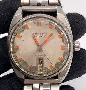 Citizen-21-Jewels-67-5636-Automatisch-Vintage-35-mm-Day-Date-Nicht-Funktioniert
