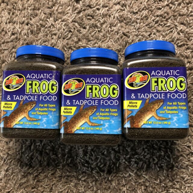 (3 Pack) Zoo Med Aquatic Frogs and Tadpoles Healthy Food Micro Pellet 12 oz