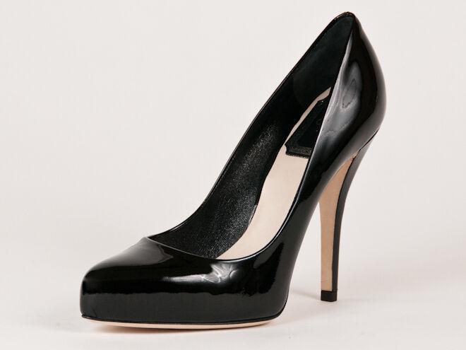 Neuf Christian Dior Noir Cuir Verni Escarpins Taille 37 37 37 US 7 bdffcd
