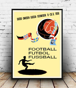 Have quickly vintage football poster directly