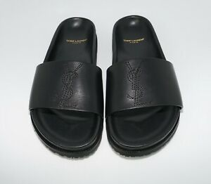 fe29f11f456 Saint Laurent Men s Jimmy 20 YSL Calf Leather Slide Sandal