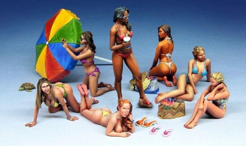 1 35 Scale Resin Model Kit Modern Beach Girls (7 Figures)