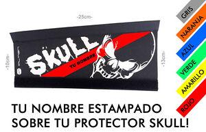 BICICLETA-MTB-PROTECTOR-DE-CADENA-VAINA-CUBRECADENAS-CALAVERA-SKULL-TOTENKOPF