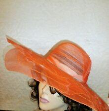 fdd2eca0 ... -Easy Gardener Wide Brim Tangerine Orange Ladies Hat Sun Protective.  $9.99. +$7.99 shipping. CRUSHABLE WIDE BRIM SHEER ORANGE HAT SIZE AVERAGE  SIZE 21