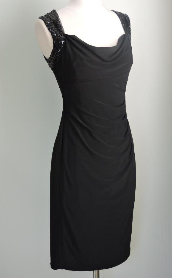 NWT RALPH LAUREN Matte Jersey Sequins Ruched Dress 2 ( XSmall )