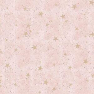Sterne Licht Stars Pink/Gold Tapete - Crown M1492 Metallisch Höhepunkte