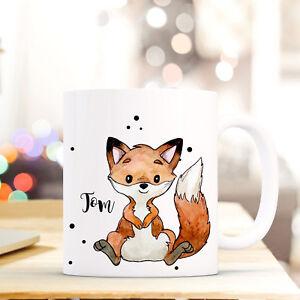 Büro & Schreibwaren Ausdauernd Tasse Becher Fuchs Mit Name Wunschname Kaffeetasse Bedruckt Kaffeebecher Ts774 Tassen