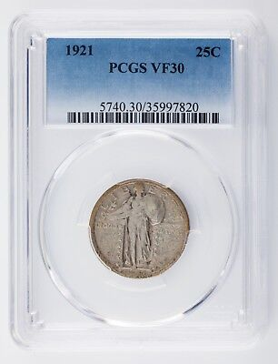 Smart 1921 25c Standing Liberty Cuarto De Graded Por Calidad Como Vf30 Bonito Moneda Making Things Convenient For The People Bullion