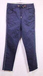 GJ19-25 Street One Bonny Hose Jogg-Pants blau Gr. 34 L30 Konstrastreifen Stretch