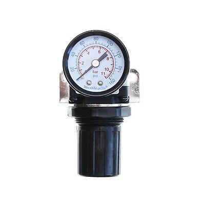 """1pc MINI Pressure Regulator 1//8/"""" NPT with Gauge and Bracket MettleAir AR2000-N01"""