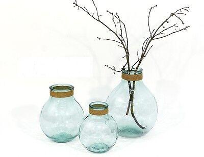 Vetro Vaso Raffia Piccoli Riciclaggio Verde Decorazione Risiedono Decorazione Modern Design Iuta-mostra Il Titolo Originale