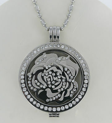 1x SMALL COIN//MONEDA ONLY FOR MI MILANO NECKLACE//PENDANT//KEEPER//GENUINE CRYSTAL