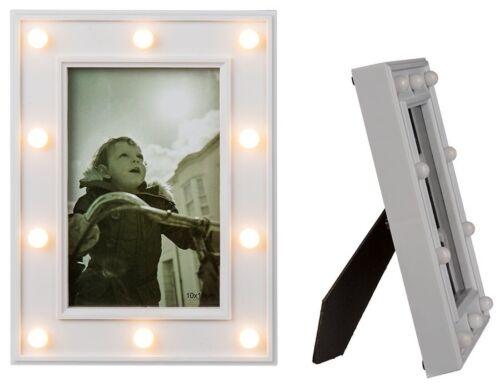 Fotos 10 x 15 Glamour Light Bilderrahmen 10 LEDs Bild Collage LED Fotorahmen f