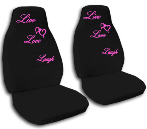Car Truck Van Seat Covers To Live Love and Laugh Velour Front Set