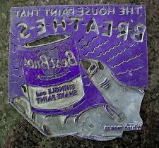 Metal Printing Engraving Plate Royal Blue Advertising Best Bros Paint 1970s Ad