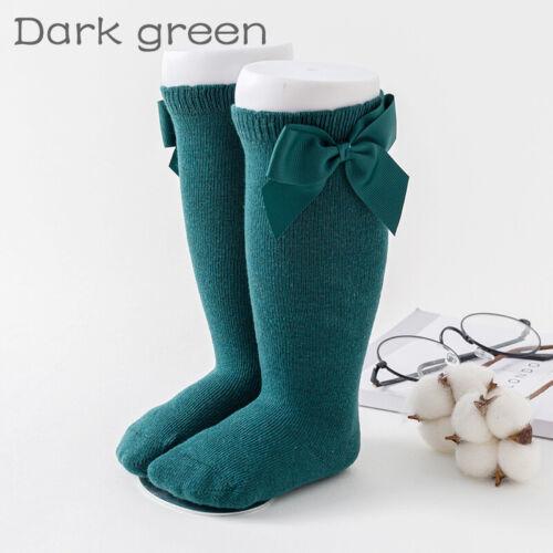 Baby Girls Sock Knee High Bows Cotton Kid Princess Toddler Leg Warmer Socks New