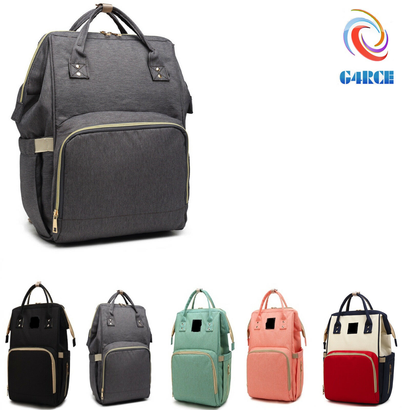 Large Multifunctional Baby Diaper Nappy Backpack Waterproof Changing Mom Bags UK