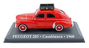 Peugeot-203-Casablanca-1960-Rojo-Taxi-diecast-escala-1-43-de-coche-raro