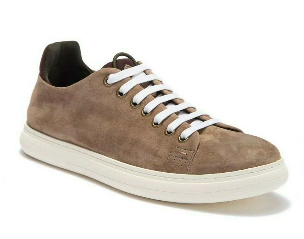 Donald J Pliner Mens Pierce Washed Suede Fashion Sneaker Tan Size 8.5