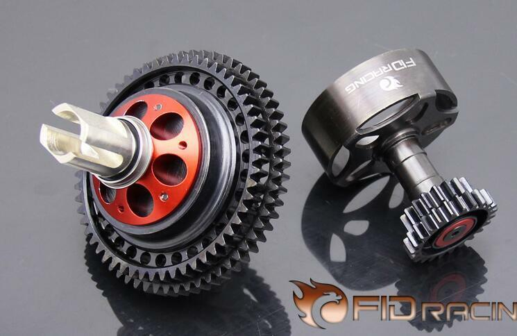FID Upgraded CNC 2 Speed two speed system  Kit Fits LOSI 5IVE-T 5t Rovan LT 1 5  autorizzazione ufficiale
