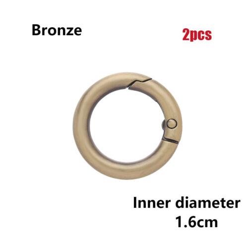 Zinc Alloy Plated Gate O-Ring Spring Snap Buckles Clips For Carabiner Handbag
