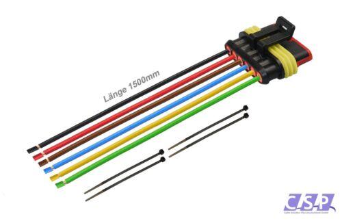 Amp superseal 6 pôle h07v-k 1,50 ² 1500mm Femelle Connecteurs connecteur électrique