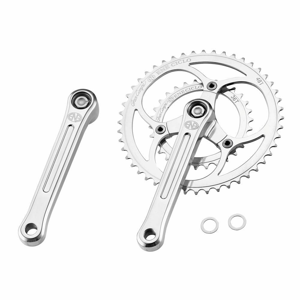 Dia-Compe ENE Ciclo Kurbel Set 2-Fach 170mm 48T 36T Double Crankset polished