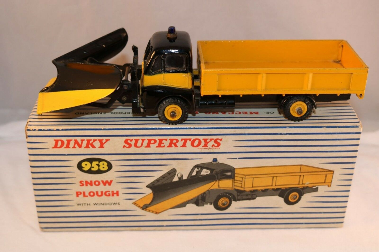 Dinky Toys 958 Snow Plough near mint in box all original condition
