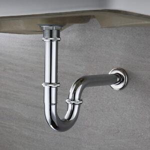 """Röhrensifon Röhrensiphon Für Waschbecken Wasserhahn Sifon Siphon 1 1//4/"""" X 38mm"""