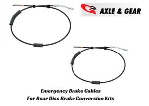 G2 Axle /& Gear E-Brake Cables for Rear Disc Brake Conversion Kit 93-98 Jeep ZJ