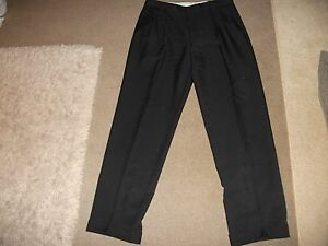 MENS-BLACK-TROUSERS-34-WIAST-BY-M-amp-S-APPEAR-WORN-ONCE-33-INCH-LEG-WOOL-BLEND-LUV