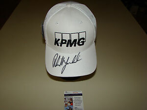 11a90b4d378 Phil Mickelson Hand Signed NEW KPMG Hat JSA  P67396 PGA Golf ...