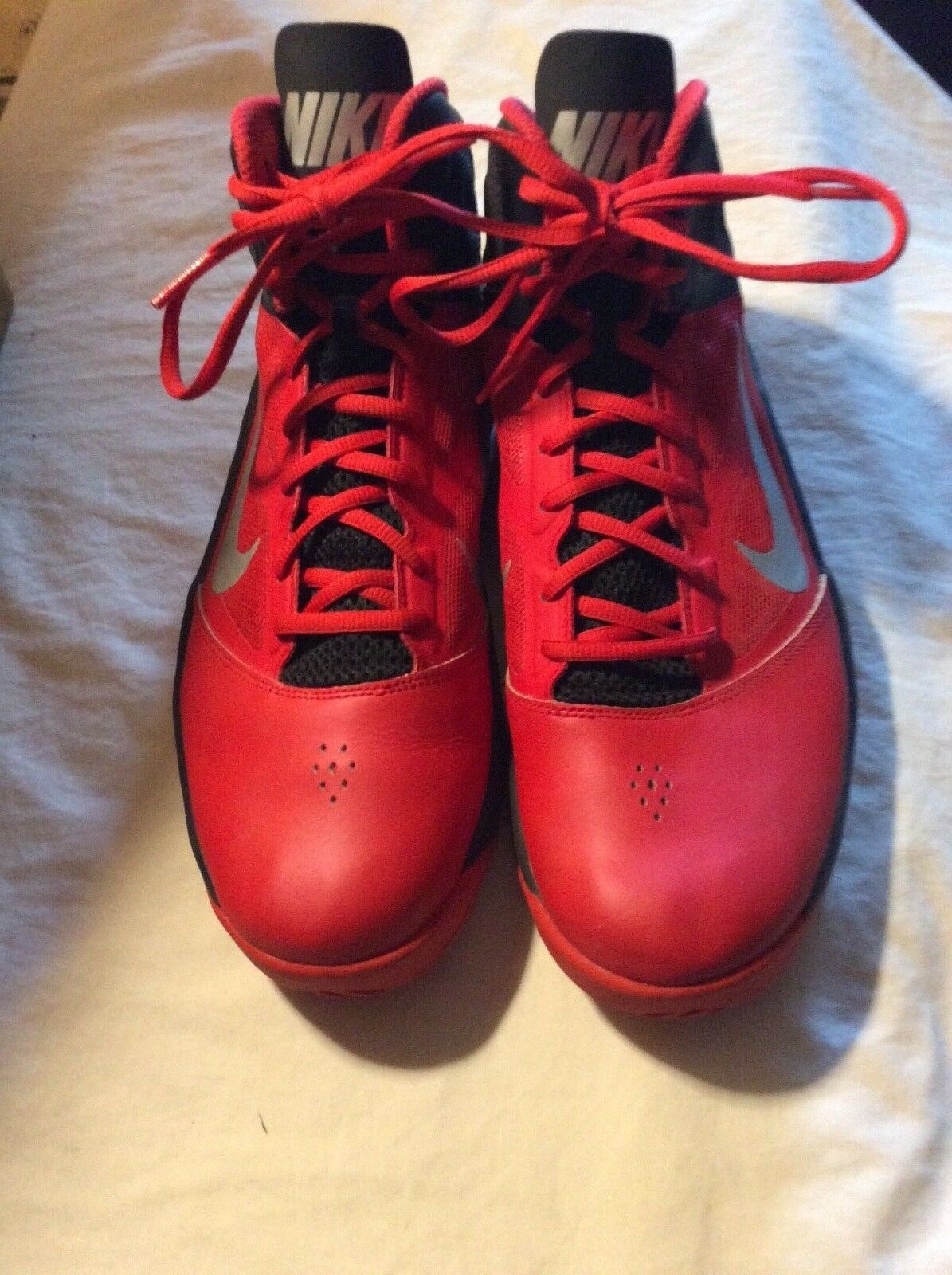 Nike Dual Fusion BB II Basketball University Red Comfortable Wild casual shoes