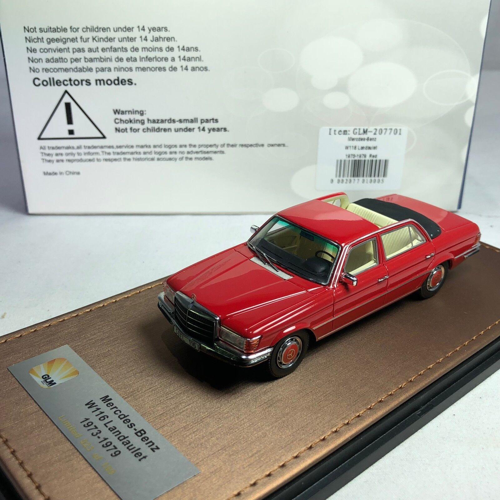 1 43 GLM Mercedes-Benz W116 Landaulet 1973-1979 rot GLM207701