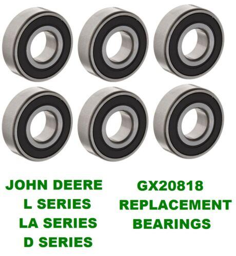 LA145 L120,130 6 John Deere Mower Deck Spindle Bearings L100 LA155 GX20818