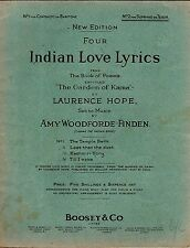 Vintage As New Condition INDIA INDIAN LOVE Lyrics Songs Tenor/ Soprano SHEET MUS