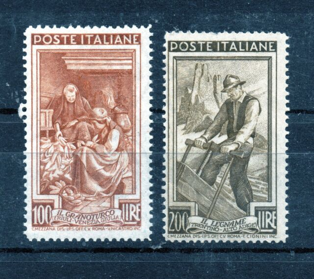 Timbres d'Italie, n°591 et 592, N**