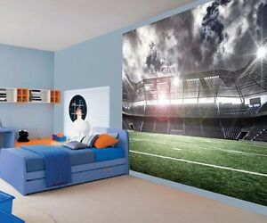 Image Is Loading Awesome Photo Football Stadium Kids Boys Bedroom Wallpaper