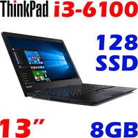 Lenovo Thinkpad 13 Core I3-6100u 8gb 128gb Ssd 13 Business Ultrabook™ Win10-pro