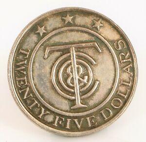 VINTAGE-DESIGNER-SIGNED-TIFFANY-amp-CO-STERLING-SILVER-TIFFANY-MONEY-TOKEN