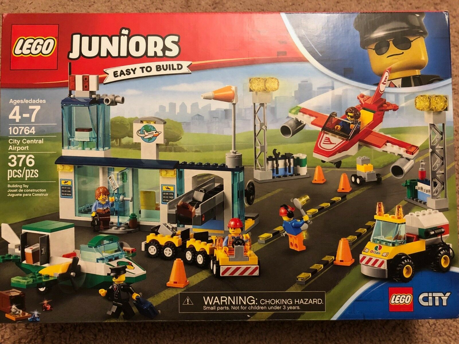 LEGO Junior City Central Airport Building Set Toy Pretend Playset Gift NEW