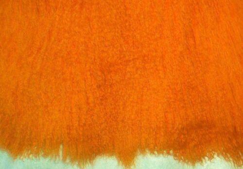 "Tibetan Lambskin for /"" Goats/"" Bright Orange"