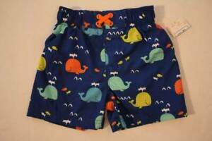 4e4ac52a96 Baby Boys Swim Trunks Bathing Suit Shorts Size 18 Months Lined Blue ...