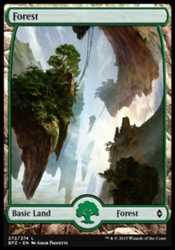 FOREST FULL-ART FORESTA Magic BFZ Foil Foil #272