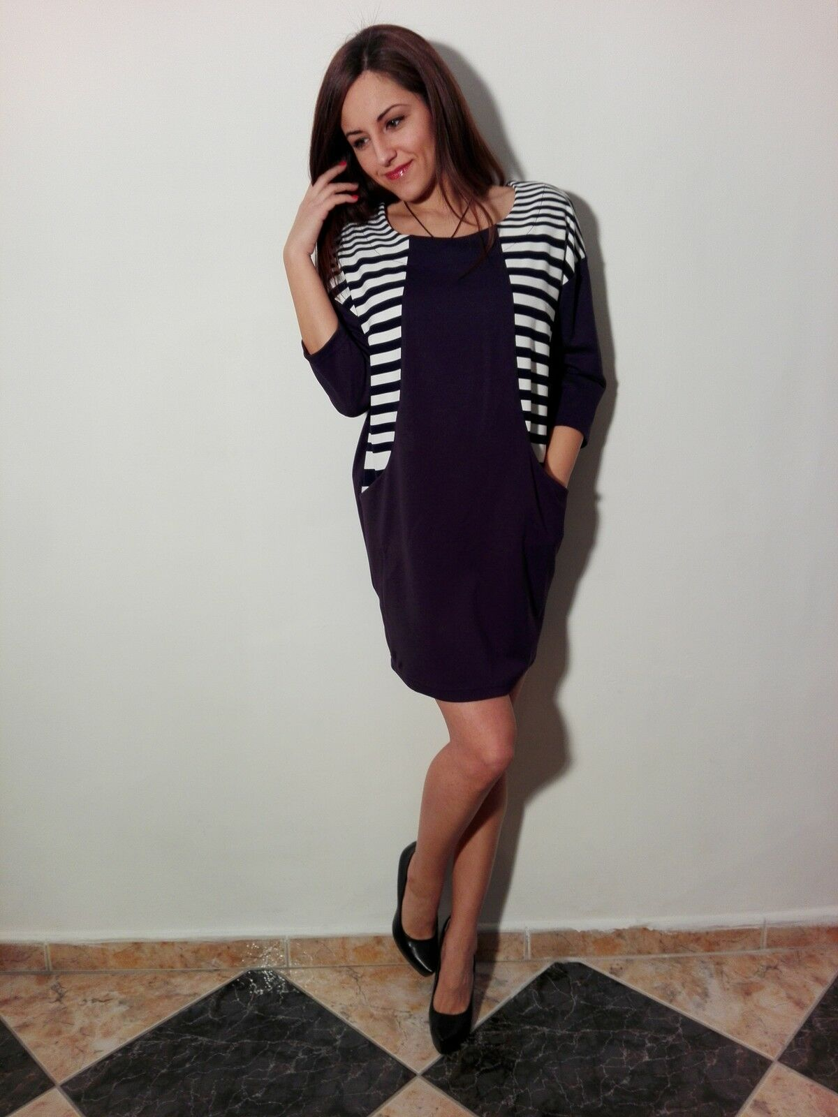 Navy bluee, navy style, dress for young women, brand new fashion clothes