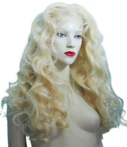 Light-Blonde-Full-Lace-Wig-Wigs-Remi-Remy-Indian-Human-Hair-Body-Wave-Wavy-Long