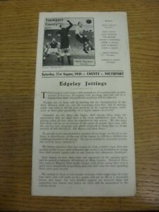 21-08-1948-Stockport-County-v-Southport-Division-3-North-minor-folding-creasi